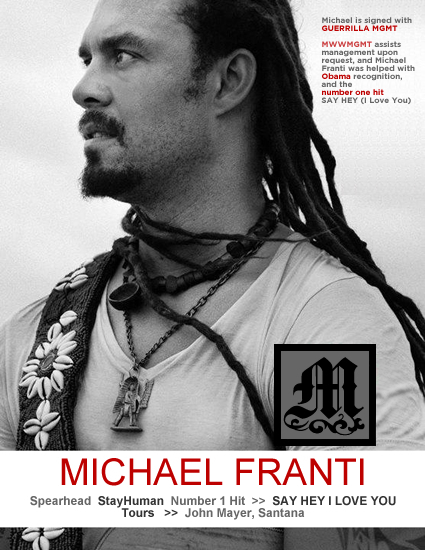Michael Franti Spearhead MWWM Founder Angie Seegers MWW Management=